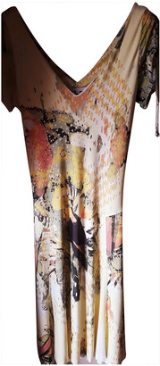 Roberto Cavalli Yellow Silk Dresses
