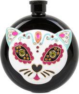 Betsey Johnson Black-Tone Multi-Stone Cat Flask
