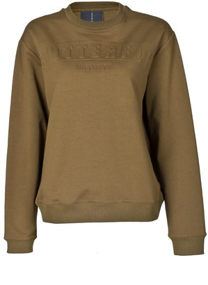 Dark Green Letter Print Sweater