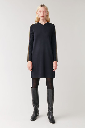 Cos V-Neck Knitted Dress