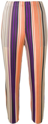 Pleats Please Issey Miyake Striped Pleated Trousers