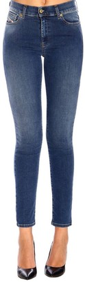 Diesel Jeans D-roisin Super Skinny Jeans With Regular Stretch Used Waist