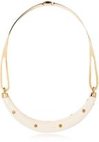 Aurelie Bidermann Studded Caftan Gold Plated and Resin Horn Moon Necklace