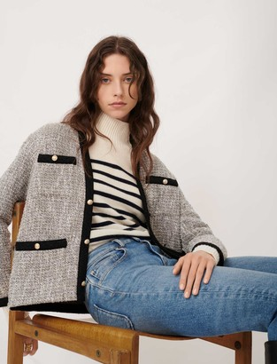 Maje Tweed-style jacket with contrast details