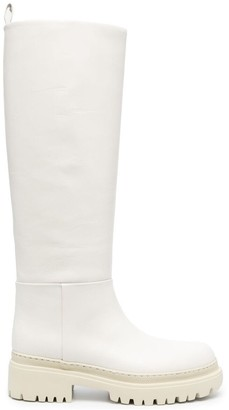 Semi-Couture Knee-High Leather Boots