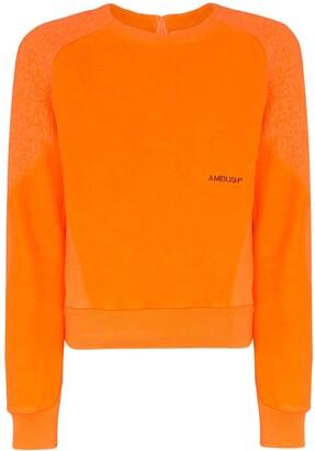 Ambush Logo-Embroidered Fleece Sweatshirt