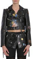 Alexander McQueen Embroidered Zipped Biker Jacket