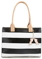 Kate Landry Cabana Striped Bow Tote