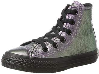 Converse Unisex Kids' Chuck Taylor All Star Iridescent High Hi-Top Trainers, Purple (Lila/Schwarz Lila/Schwarz), 10 10.5 UK