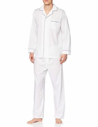 Brooks Brothers Men's Pj Og Bclth SLD Wht Pyjama Set