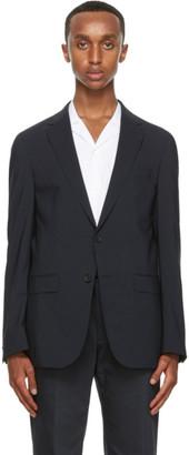 HUGO BOSS Navy Crepe Wool Blazer