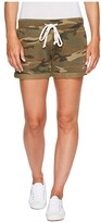 Alternative Burnout French Terry Lounge Shorts (Camo) Women's Shorts