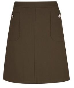 Dorothy Perkins Womens **Tall Khaki Popper Mini Skirt, Khaki