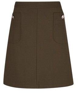 Dorothy Perkins Womens Tall Khaki Popper Mini Skirt, Khaki