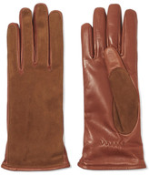 Lanvin Suede And Leather Gloves - Camel