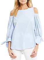 IC Collection Cold Shoulder Striped Blouse