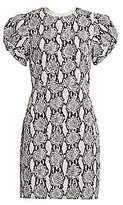 A.L.C. Women's Brinley Puff-Sleeve Snake Print Sheath Dress - Size 0
