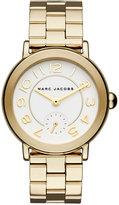 Marc Jacobs Women's Riley Gold-Tone Stainless Steel Bracelet Watch 36mm MJ3470