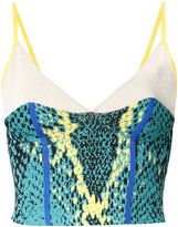 Theatre Products snakeskin print cropped top - women - Rayon/Polyester - One Size