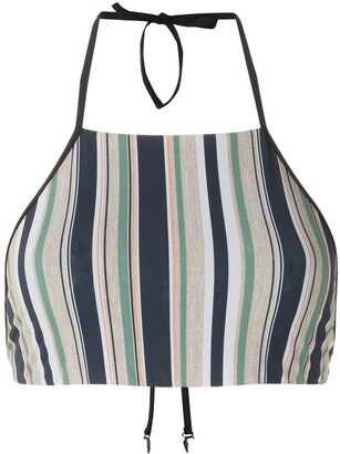 Track & Field Horizonte cropped bikini top
