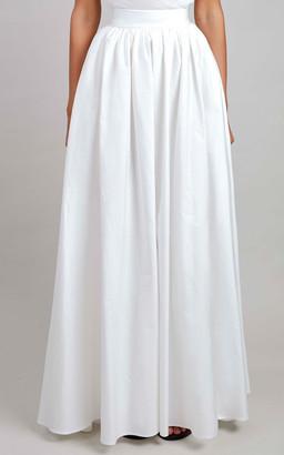 Elie Saab Cotton Midi Skirt