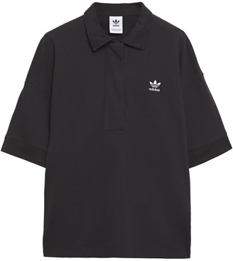 adidas Embroidered Cotton-pique Polo Shirt