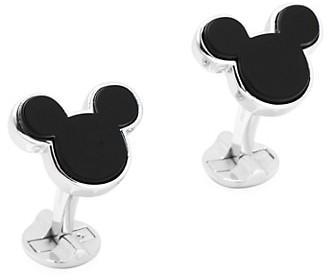 Cufflinks Inc. Disney Sterling Silver and Onyx Mickey Mouse Cufflinks