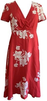 ALEXACHUNG Alexa Chung Red Viscose Dresses
