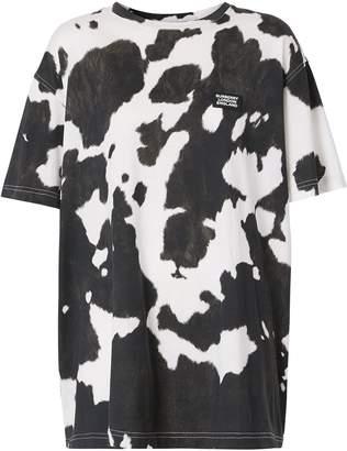 Burberry cow print t-shirt