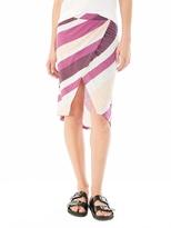 Alternative Melange Jersey Wrap Skirt