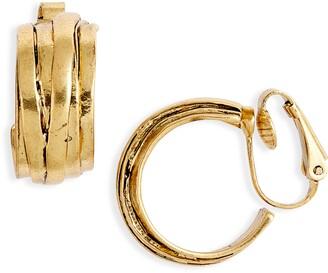 Karine Sultan Overlap Hoop Clip-On Earrings