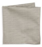Armani Collezioni Thin Striped Silk Pocket Square