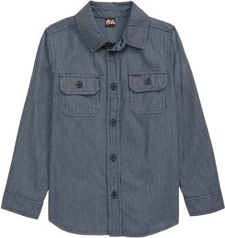 Tea Collection Railroad Button-Up Shirt