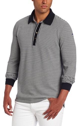 Façonnable Men's Striped Long Sleeve Polo