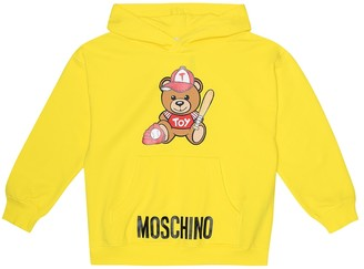 MOSCHINO BAMBINO Printed stretch-cotton hoodie