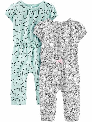 Simple Joys by Carter's Girls' 2-Pack Fashion Jumpsuits