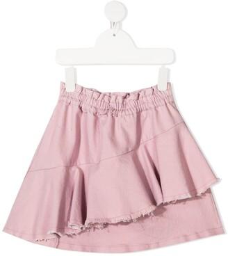 Andorine Destroyed Draped Skirt