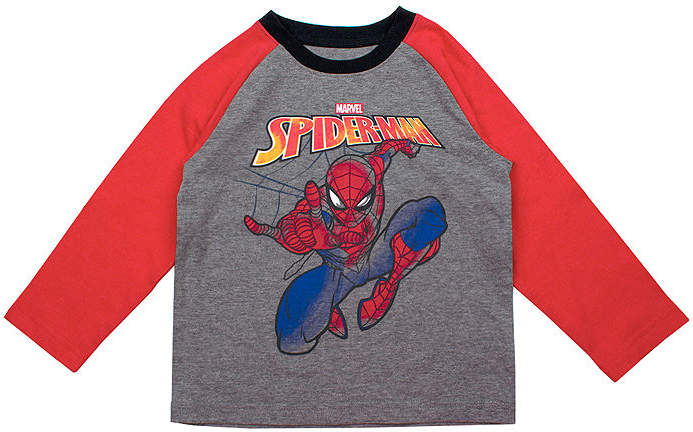 Spiderman Boys Crew Neck Long Sleeve Graphic T-Shirt-Toddler