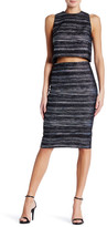 Nicole Miller Metallic Pencil Skirt