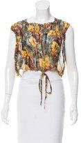 Jean Paul Gaultier Silk Crop Top