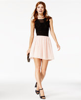 City Studios Juniors' 2-Pc. Tulle A-Line Dress