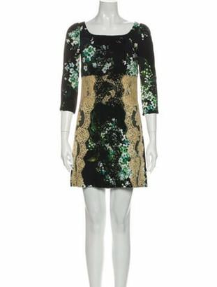 Dolce & Gabbana Lace Pattern Mini Dress Black
