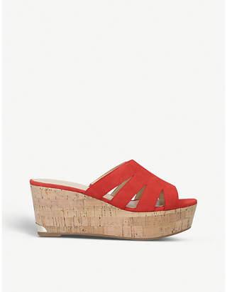 Nine West Victoria suede wedge sandals