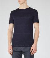 Reiss Cowdry Fleck Stripe T-Shirt