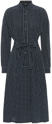 Loro Piana Careen printed silk midi shirt dress