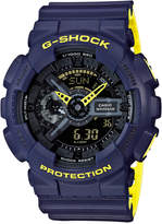 G-Shock Men's Analog-Digital Navy/Yellow Resin Strap Watch 51mm GA110LN-2A