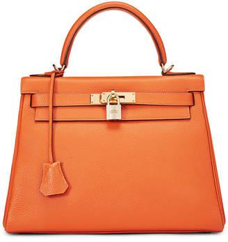Hermes Kelly 28 Medium Birkin Bag, Orange