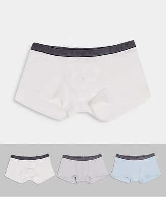 ASOS DESIGN 3 pack short trunks with branded waistbands save