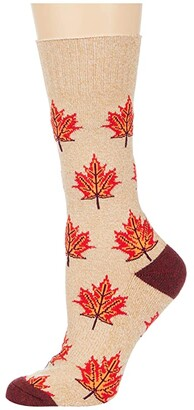 Socksmith Maple Leaf, Eh? (Oatmeal) Crew Cut Socks Shoes