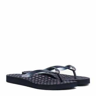 Tommy Hilfiger Girl's Colorful Tommy Flat Beach Sandal Flip Flops
